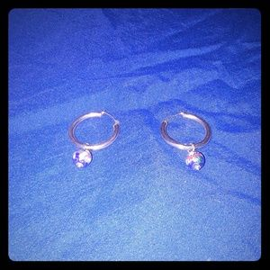 Gold Hoop Earrings with charms